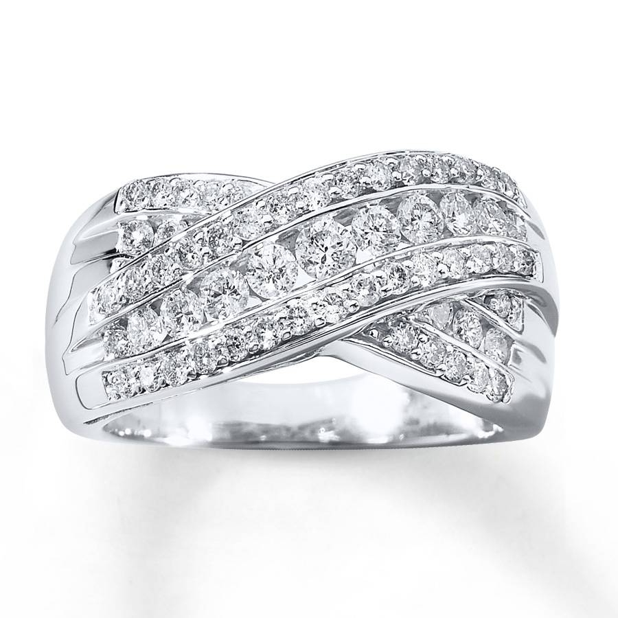 Kay – Diamond Anniversary Ring 1 Ct Tw Round Cut 14K White Gold With Regard To 2018 Gold Diamond Anniversary Rings (View 17 of 25)