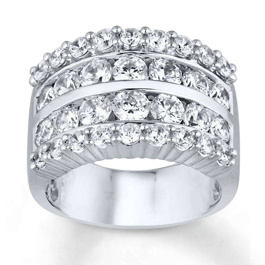 Kay – Diamond Anniversary Ring 3 Ct Tw Round Cut 14k White Gold Regarding Most Current 3 Diamond Anniversary Rings (View 5 of 25)