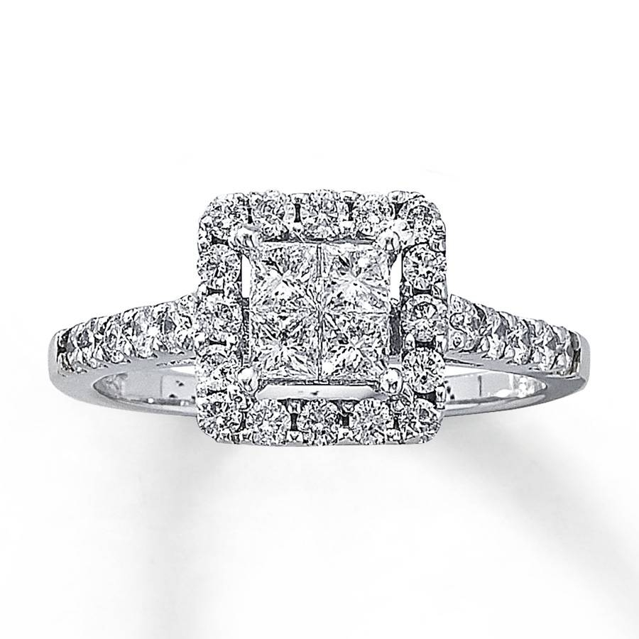 Kay – Diamond Engagement Ring 1 Ct Tw Diamonds 14k White Gold Regarding 2018 Kay Jewelers Anniversary Rings (View 15 of 25)