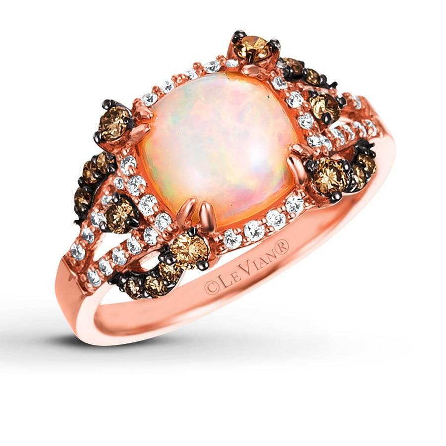 Kay – Le Vian Opal Ring 1/2 Ct Tw Diamonds 14K Strawberry Gold Inside Most Recent Chocolate Diamond Anniversary Rings (View 16 of 25)