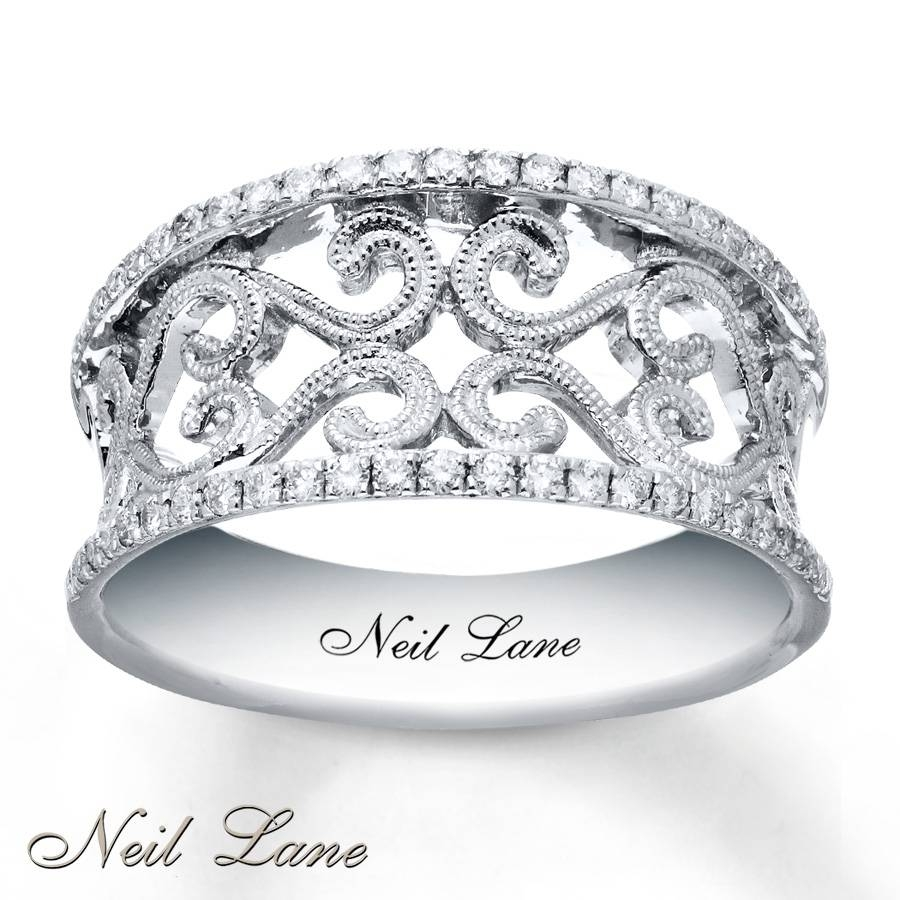Kay – Neil Lane Diamond Ring 1/4 Ct Tw Round Cut Sterling Silver Pertaining To Best And Newest Neil Lane Anniversary Rings (View 15 of 25)