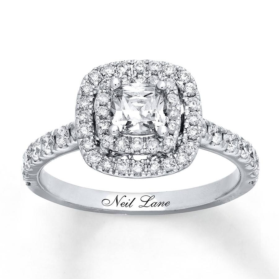 Kay – Neil Lane Engagement Ring 1 1/8 Ct Tw Diamonds 14K White Gold Within 2018 Neil Lane Anniversary Rings (View 16 of 25)