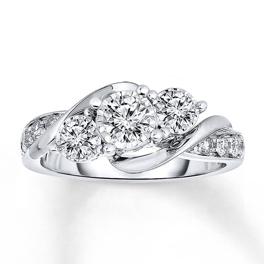 Kay – Radiant Reflections Diamond Ring 1 Ct Tw 14K White Gold Intended For 2018 Kay Jewelers Anniversary Rings (Gallery 18 of 25)