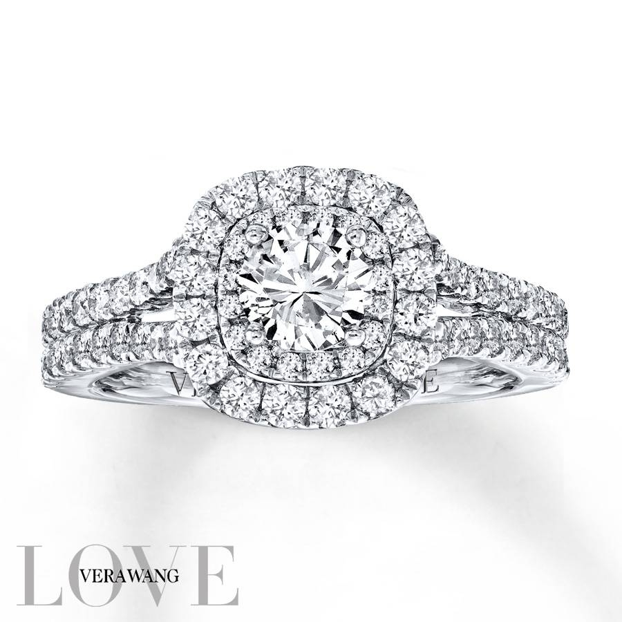 Kay – Vera Wang Love 1 1/2 Carat Tw Diamonds 14k White Gold Ring In Most Current Vera Wang Anniversary Rings (View 11 of 25)
