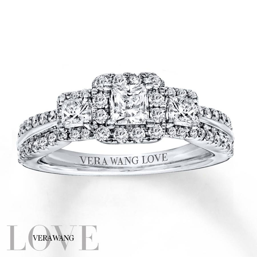 Kay – Vera Wang Love 1 Carat Tw Diamonds 14K White Gold Ring For 2018 Vera Wang Anniversary Rings (View 6 of 25)