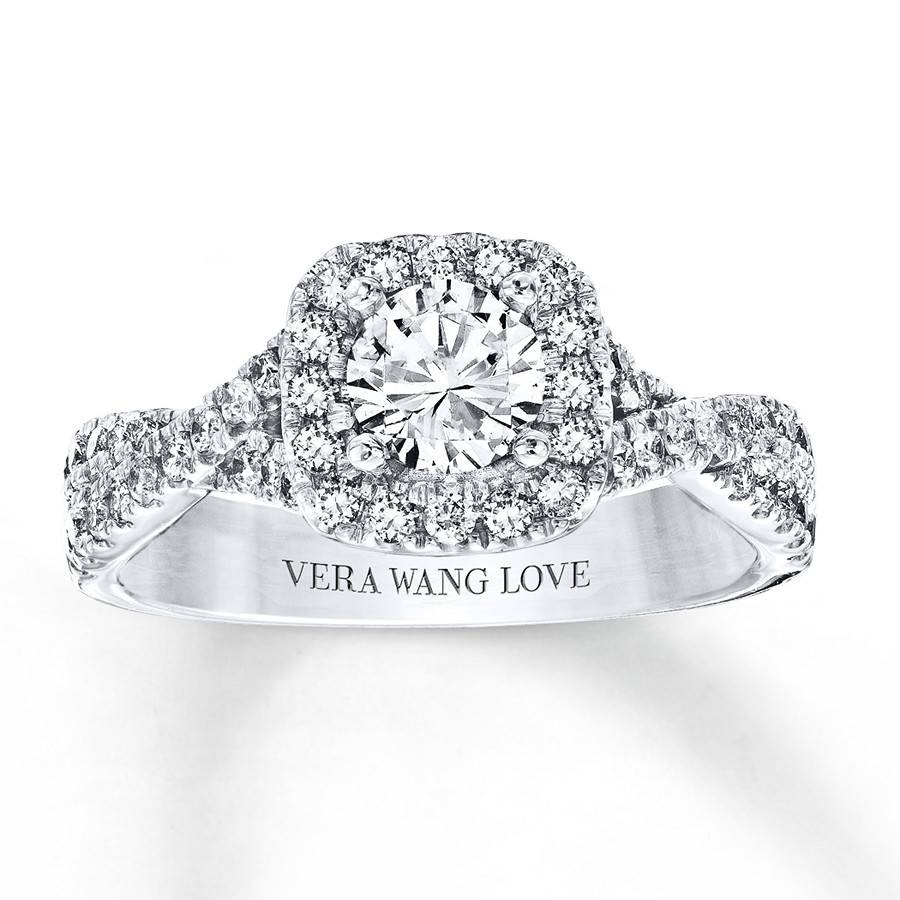 Kay – Vera Wang Love 1 Carat Tw Diamonds 14K White Gold Ring Intended For 2017 Vera Wang Anniversary Rings (View 8 of 25)