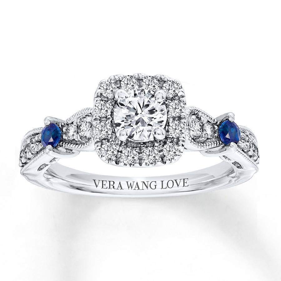 Kay – Vera Wang Love 3/4 Carat Tw Diamonds 14k White Gold Ring With Recent Vera Wang Anniversary Rings (View 2 of 25)