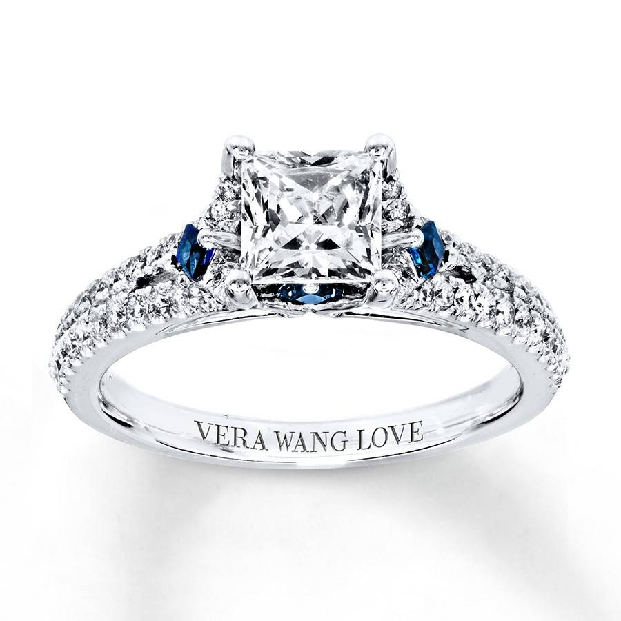 Kay – Vera Wang Love Engagement Ring 1 Ct Tw Diamonds 14K White Gold With Most Up To Date Vera Wang Anniversary Rings (View 17 of 25)