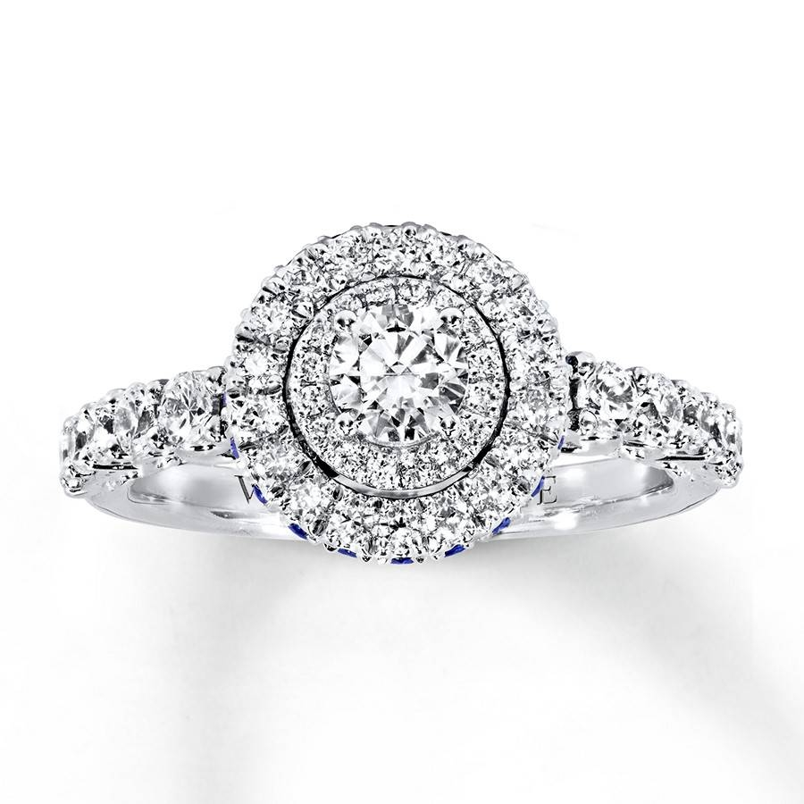 Kay – Vera Wang Love Engagement Ring 1 Ct Tw Diamonds 14K White Gold Within Most Recent Vera Wang Anniversary Rings (Gallery 5 of 25)