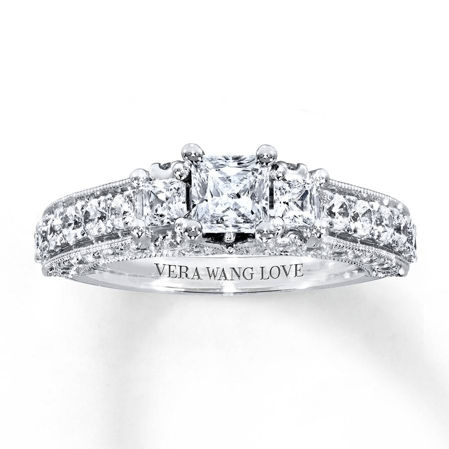 Kay – Vera Wang Love Engagement Ring 2 Ct Tw Diamonds 14K White Gold Throughout 2017 Vera Wang Anniversary Rings (Gallery 18 of 25)