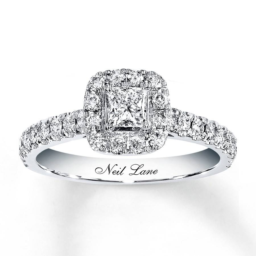 Kayoutlet – Neil Lane Engagement Ring 7/8 Ct Tw Diamonds 14K White In Most Popular Neil Lane Anniversary Rings (View 20 of 25)