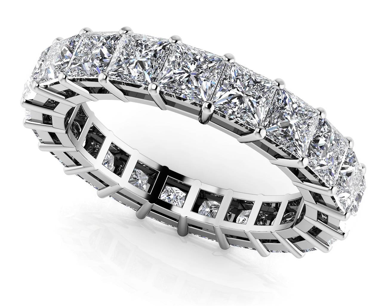 Large Collection Of Quality Diamond Eternity Rings & Bands Inside Latest Princess Cut Anniversary Rings (View 16 of 25)