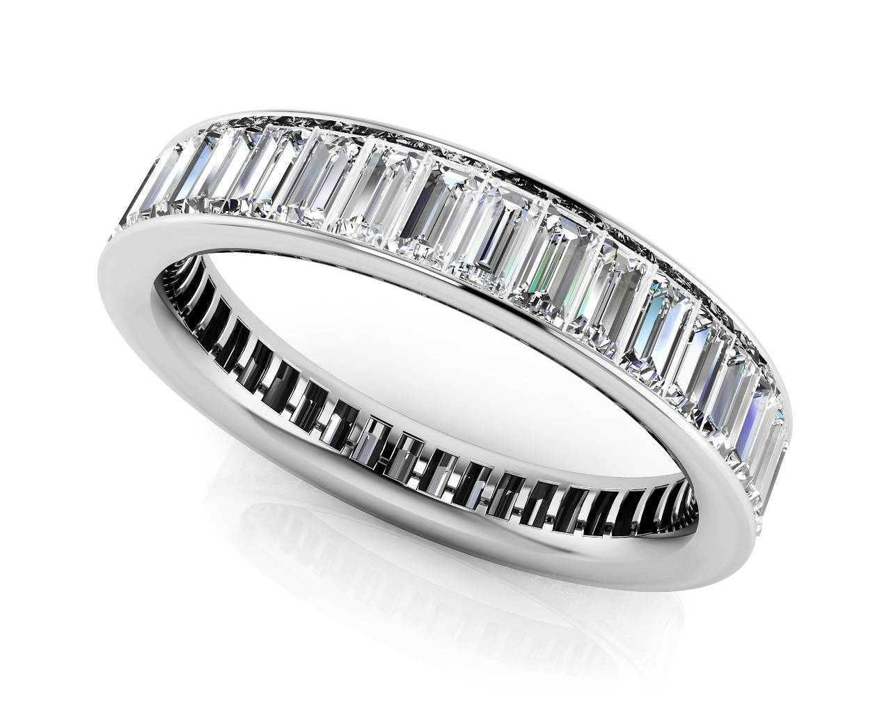 Large Collection Of Quality Diamond Eternity Rings & Bands Inside Newest Baguette Anniversary Rings (Gallery 4 of 25)