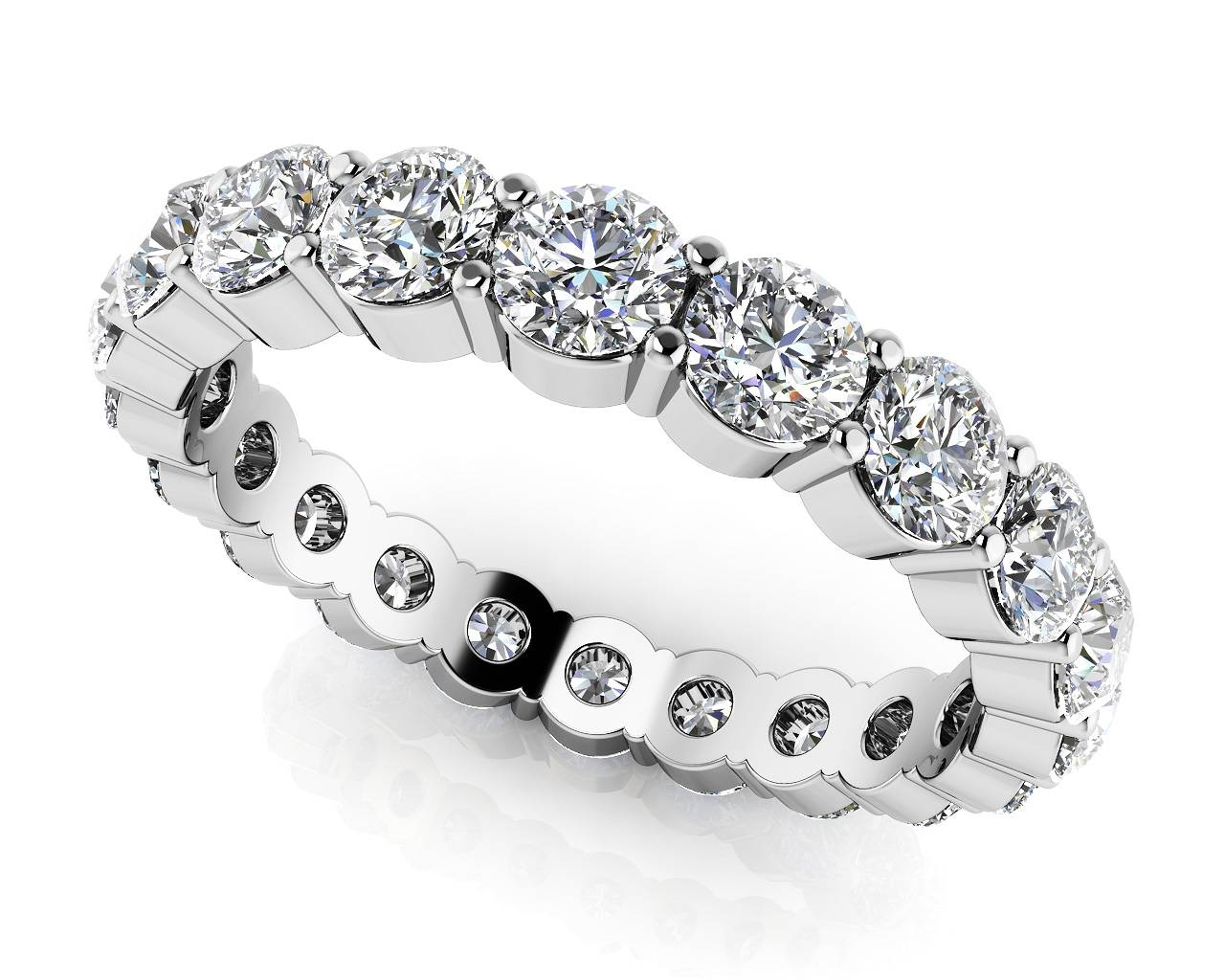 Large Collection Of Quality Diamond Eternity Rings & Bands Intended For Latest Platinum Anniversary Rings (Gallery 6 of 25)