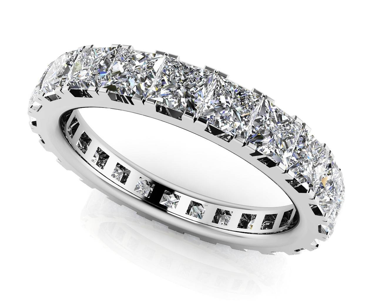 Large Collection Of Quality Diamond Eternity Rings & Bands Throughout Best And Newest Princess Cut Anniversary Rings (View 17 of 25)