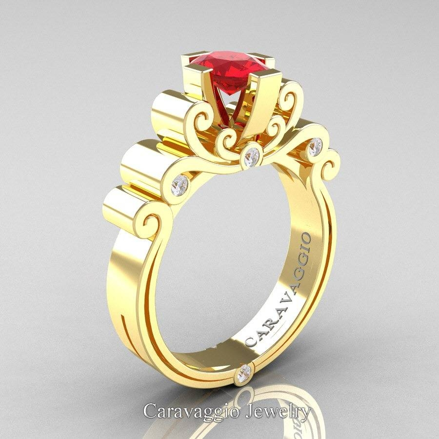 Lovely Ruby And Diamond Wedding Rings Design Gallery – Alsayegh Pertaining To Latest Unusual Anniversary Rings (Gallery 21 of 25)