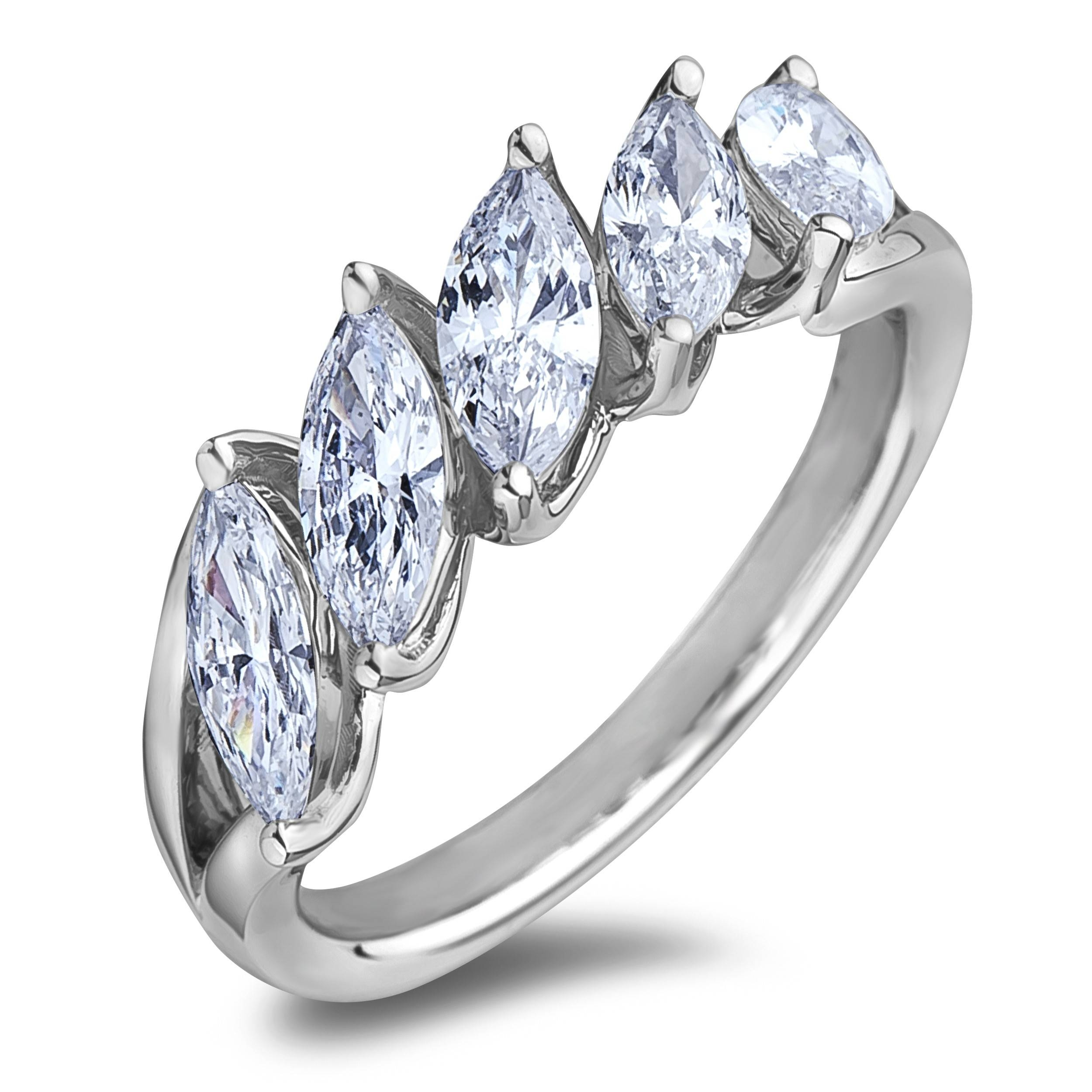 Lugaro | Anniversary Ring Within Most Current Marquise Diamond Anniversary Rings (View 13 of 25)