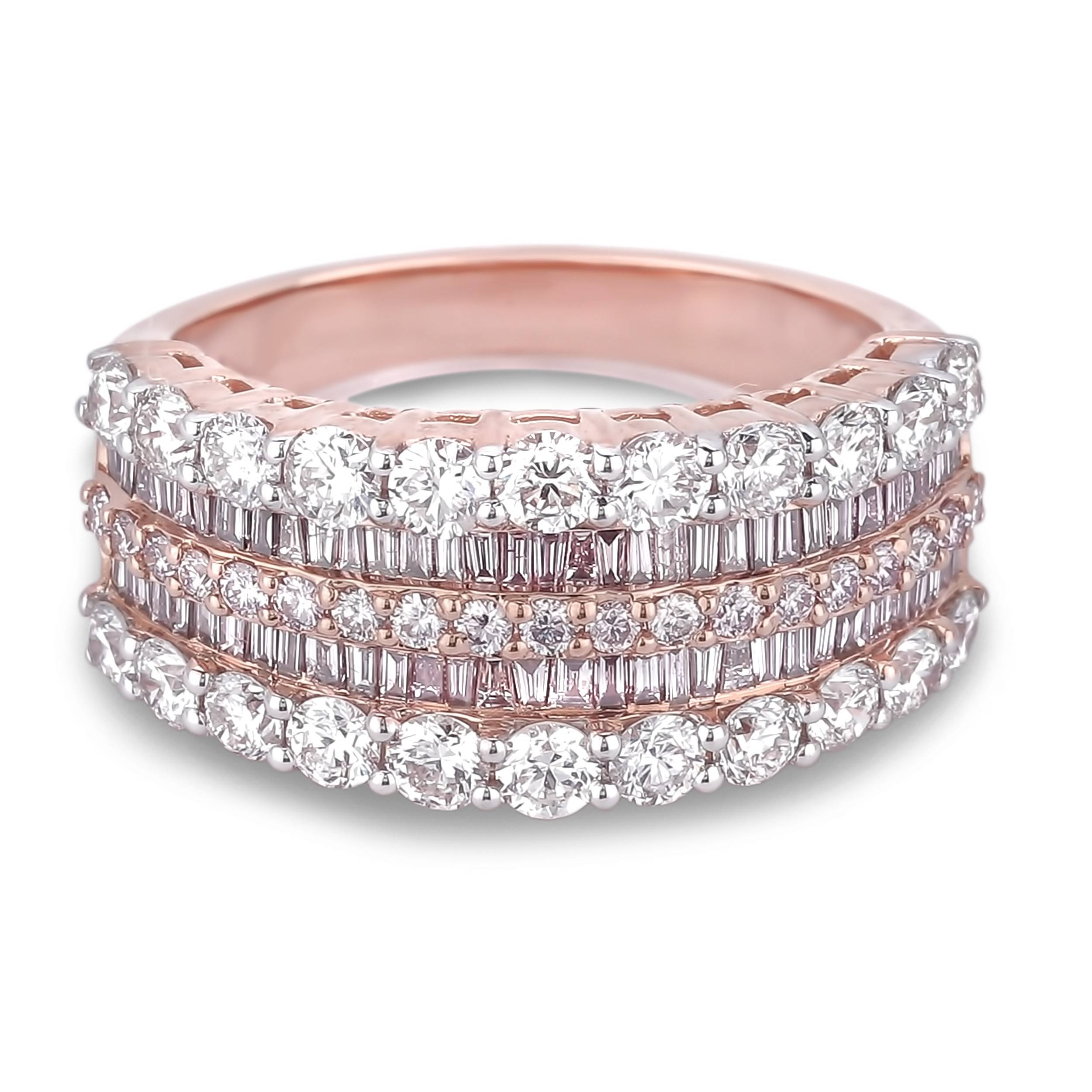 Lugaro | Argyle Pink Diamond Anniversary Ring With Regard To Latest Ladies Anniversary Rings (View 2 of 25)
