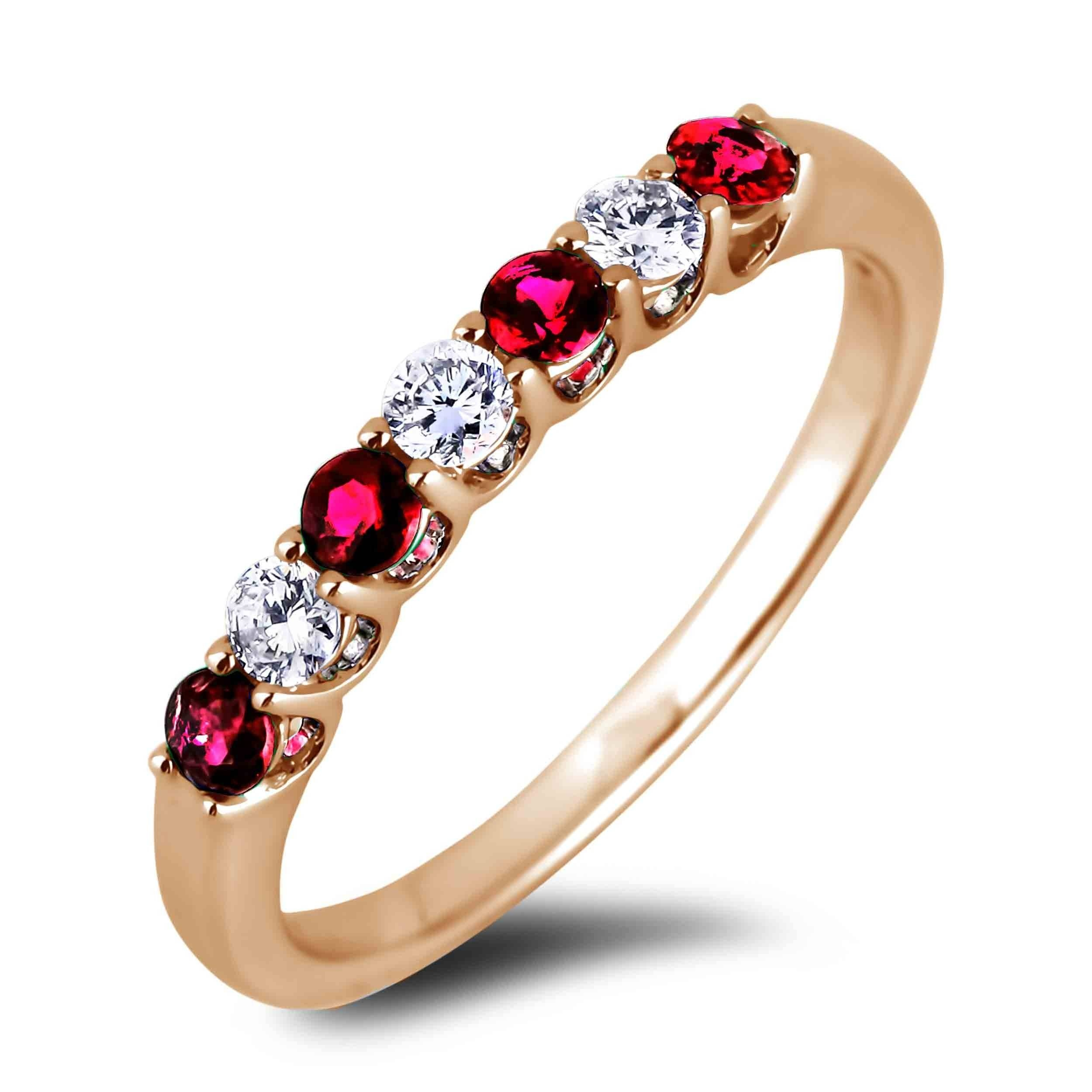 Lugaro | Ruby And Diamond Anniversary Band Intended For Recent Ruby And Diamond Anniversary Rings (View 12 of 25)