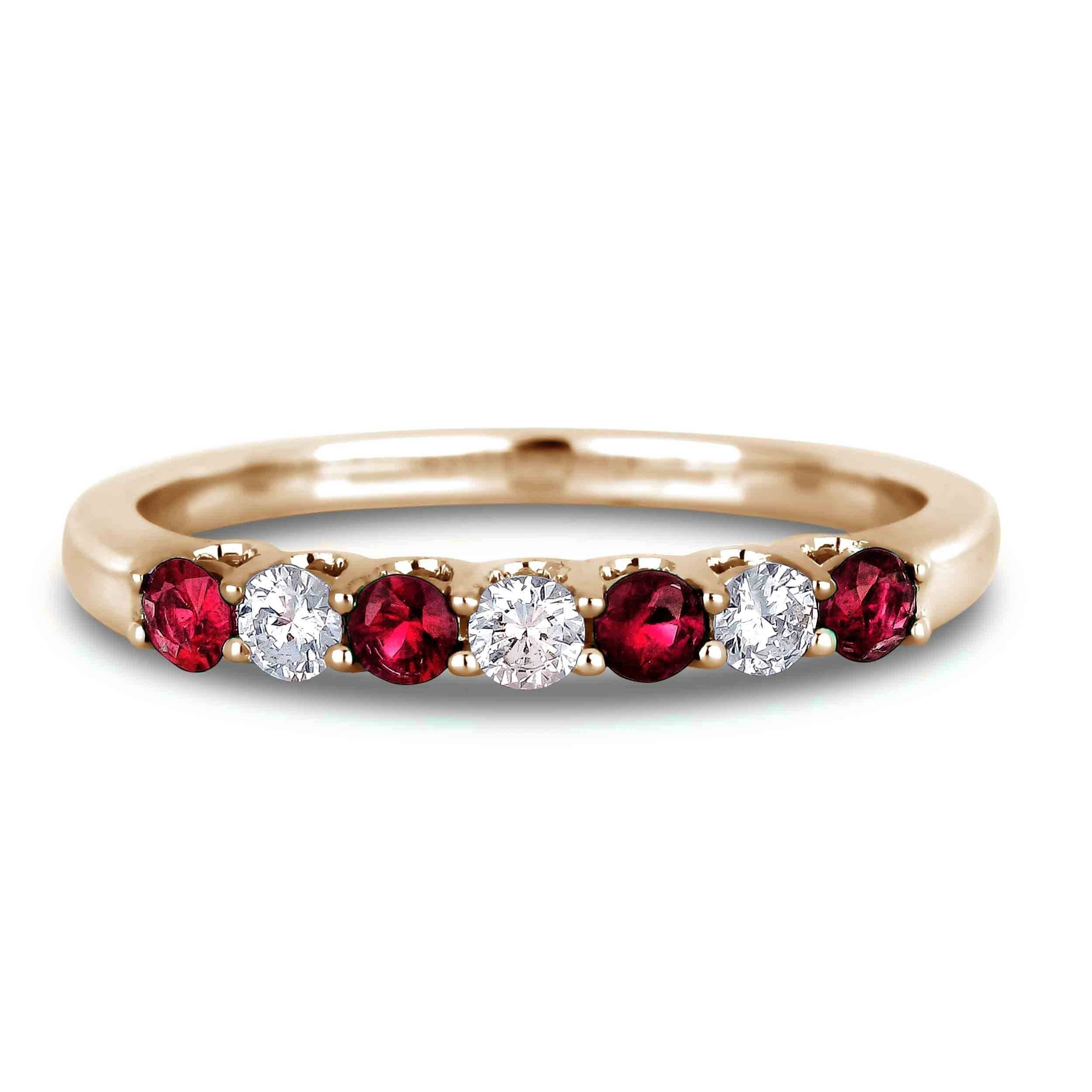 Lugaro | Ruby And Diamond Anniversary Band With Most Popular Ruby And Diamond Anniversary Rings (View 13 of 25)