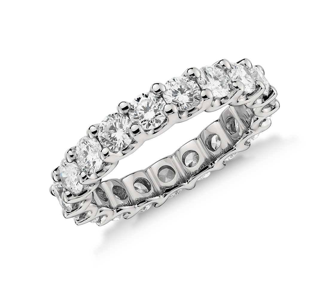 Luna Diamond Eternity Ring – Platinum – Ethos Canada Throughout Current Blue Nile Anniversary Rings (Gallery 11 of 25)