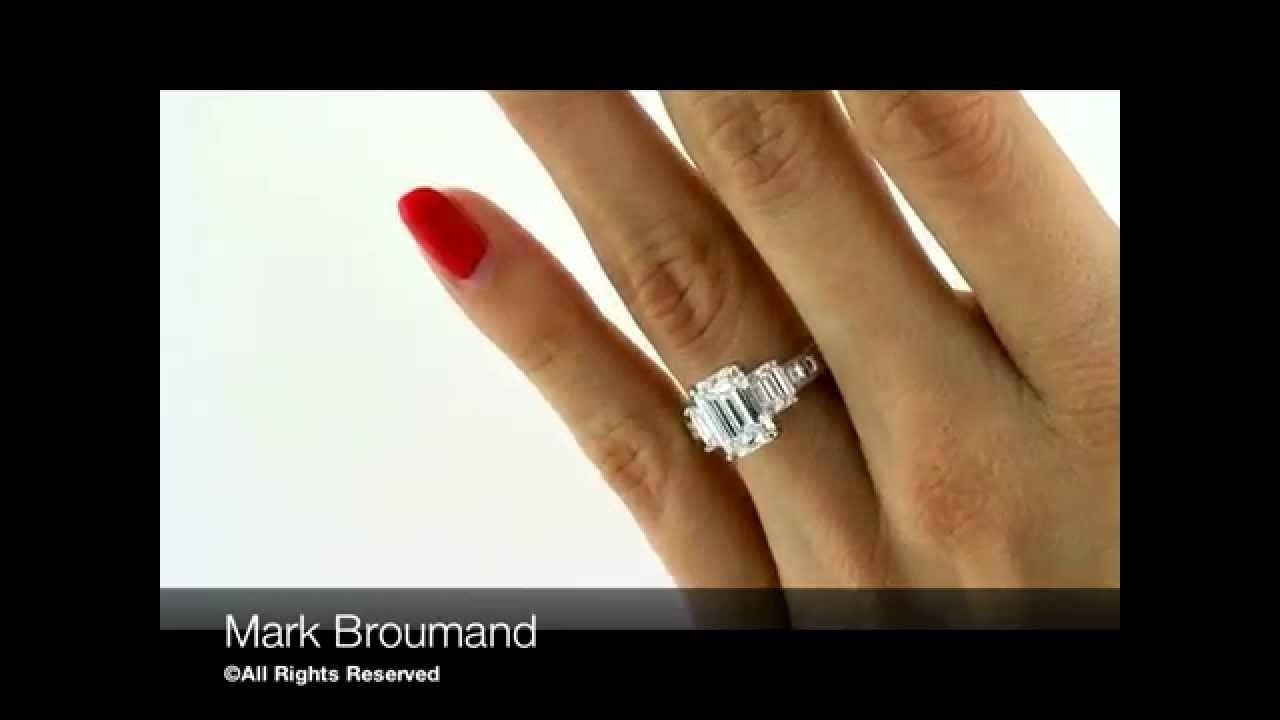 Mark Broumand – 4.42Ct Emerald Cut Diamond Engagement Anniversary For Best And Newest Emerald Cut Diamond Anniversary Rings (Gallery 8 of 25)
