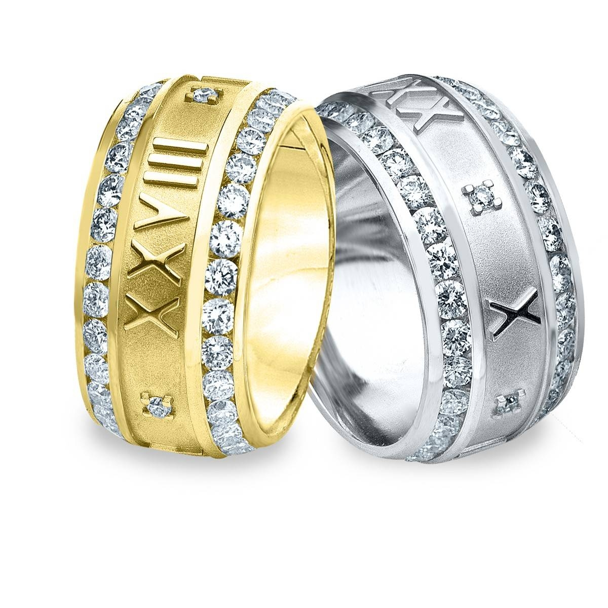 Men's Diamond Rings | Men's Diamond Wedding Bands | Men's Throughout Most Recent Mens Anniversary Rings (Gallery 3 of 25)