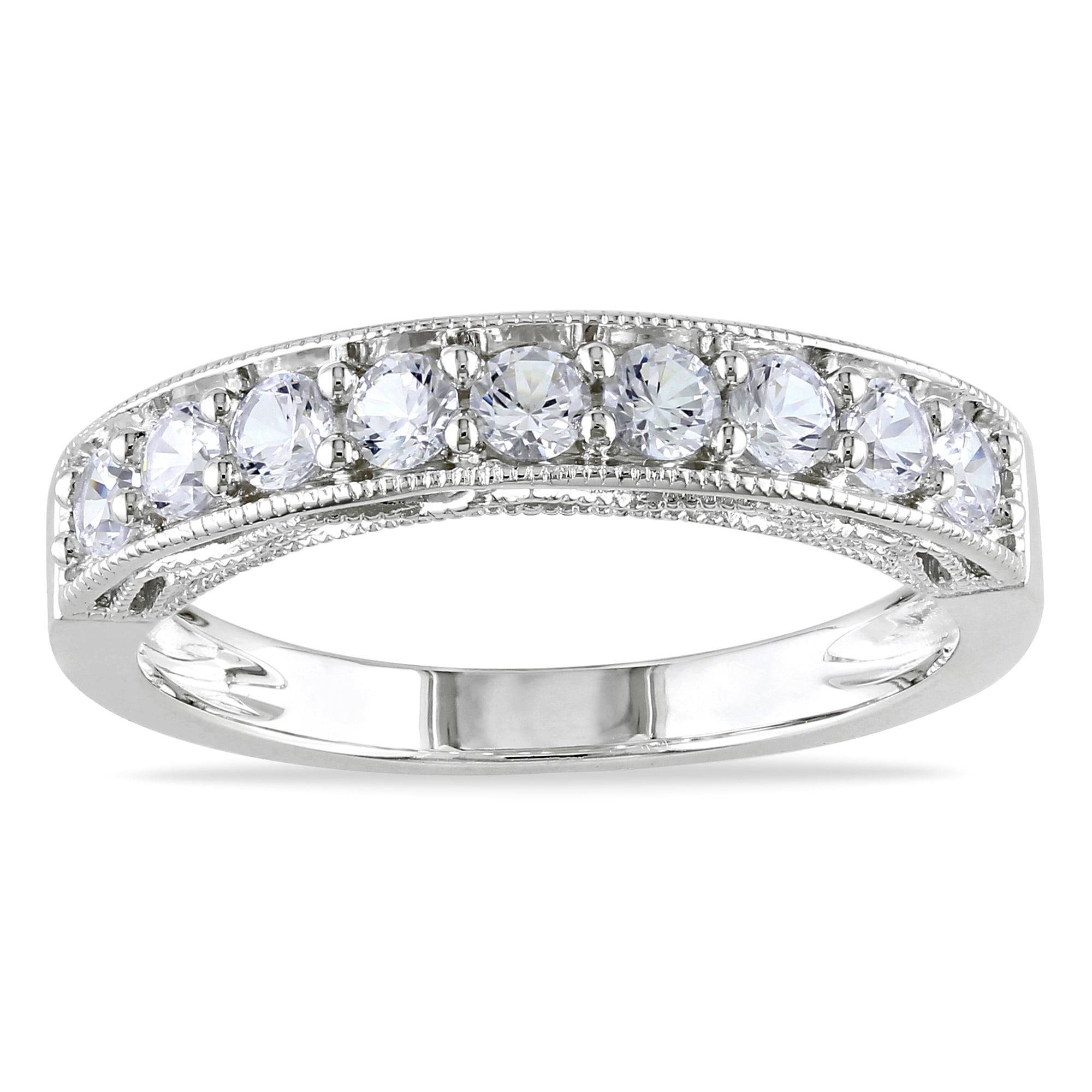 Miadora Sterling Silver White Sapphire And Gemstone Stackable With Latest Stackable Anniversary Rings (View 13 of 25)