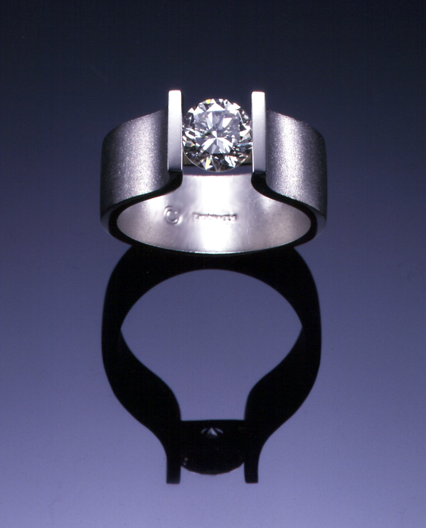 Modern Channel Set Diamond Solitaire R1070W | Signature Solitaire Within Current Modern Anniversary Rings (View 15 of 25)