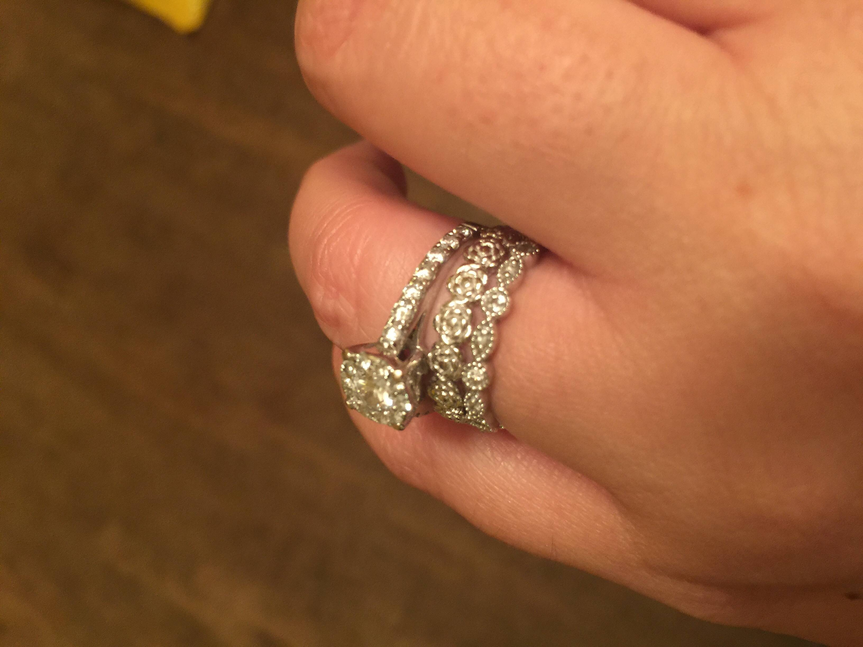 New Anniversary Bands Came Today! Pics :) – Weddingbee With Regard To Most Up To Date One Year Anniversary Rings (Gallery 5 of 25)