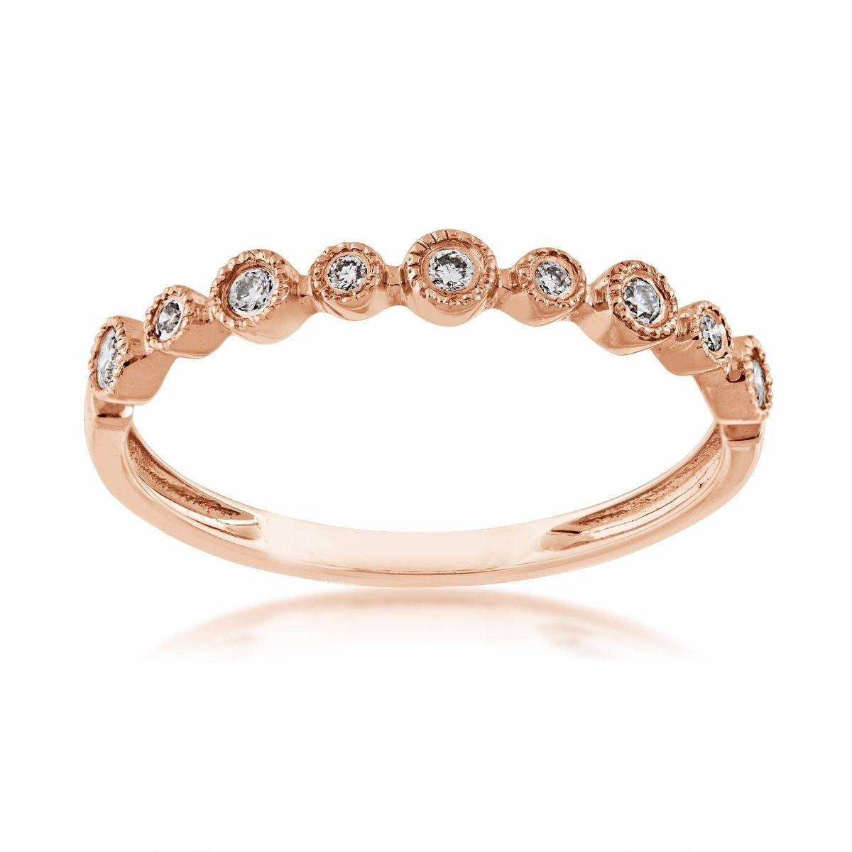 Perfect Match Stackable Diamond Anniversary Ring In 10 Kt. Pink With Current First Year Anniversary Rings (Gallery 24 of 25)