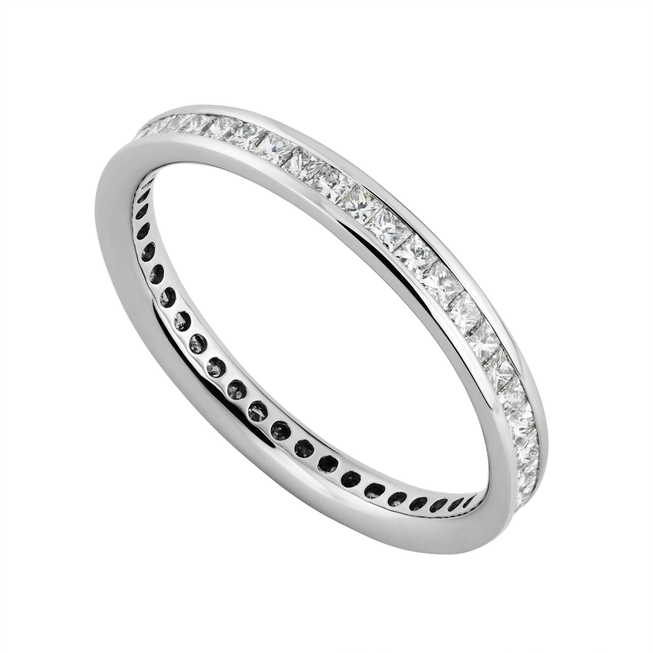 Platinum 0.75 Carat Princess Cut Diamond Full Eternity Ring With Latest Princess Cut Anniversary Rings (Gallery 25 of 25)