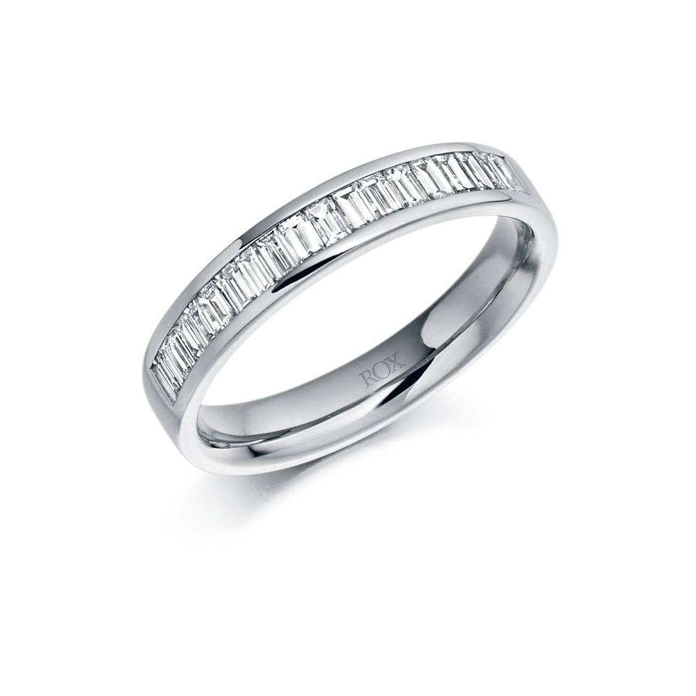 Platinum Baguette Diamond Eternity Ring 0.56Ct | Rox Pertaining To Most Up To Date Baguette Anniversary Rings (Gallery 10 of 25)