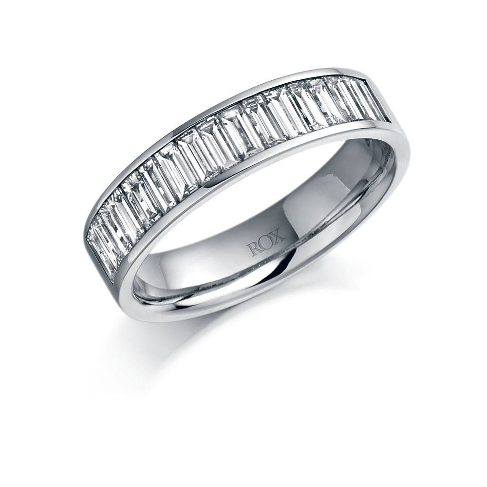Platinum Baguette Diamond Eternity Ring 1.00Ct | Rox In Most Up To Date Baguette Anniversary Rings (Gallery 7 of 25)