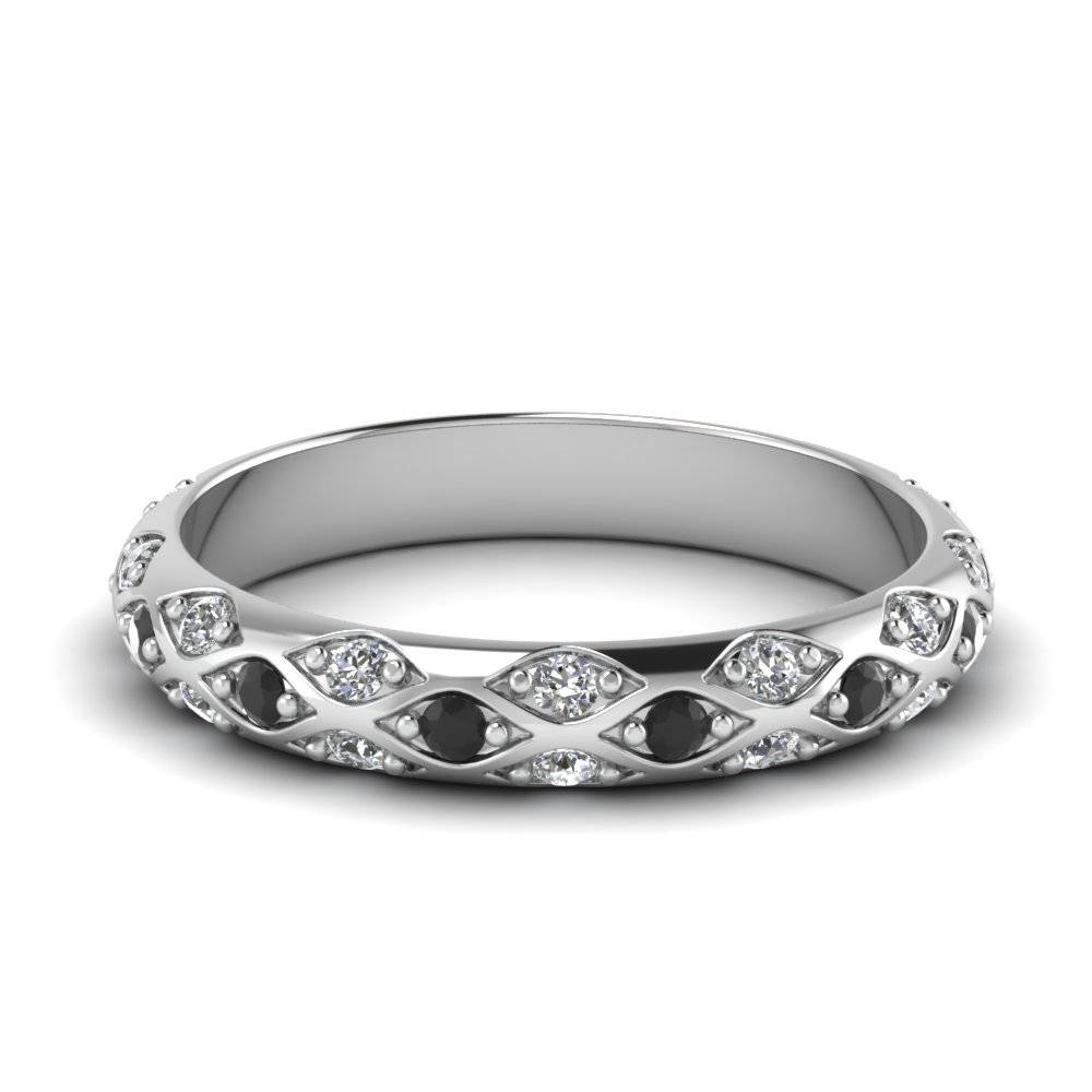 Platinum Black Diamond Wedding Band | Fascinating Diamonds Intended For Best And Newest Black Diamond Anniversary Rings (View 21 of 25)