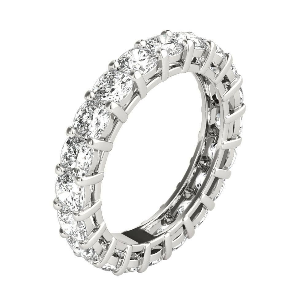Platinum Cushion Cut Diamond Eternity Band Diamond Anniversary With Regard To Most Current Cushion Cut Anniversary Rings (View 16 of 25)