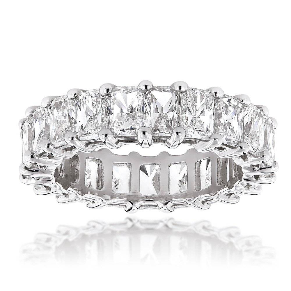 Platinum Radiant Cut Diamonds Eternity Band G/vs 6.6 Carat In Most Popular Eternity Anniversary Rings (Gallery 10 of 25)