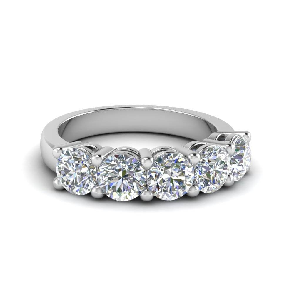 Platinum Wedding Bands For Women At Affordable Prices Throughout Most Popular Womens Anniversary Rings (View 8 of 25)