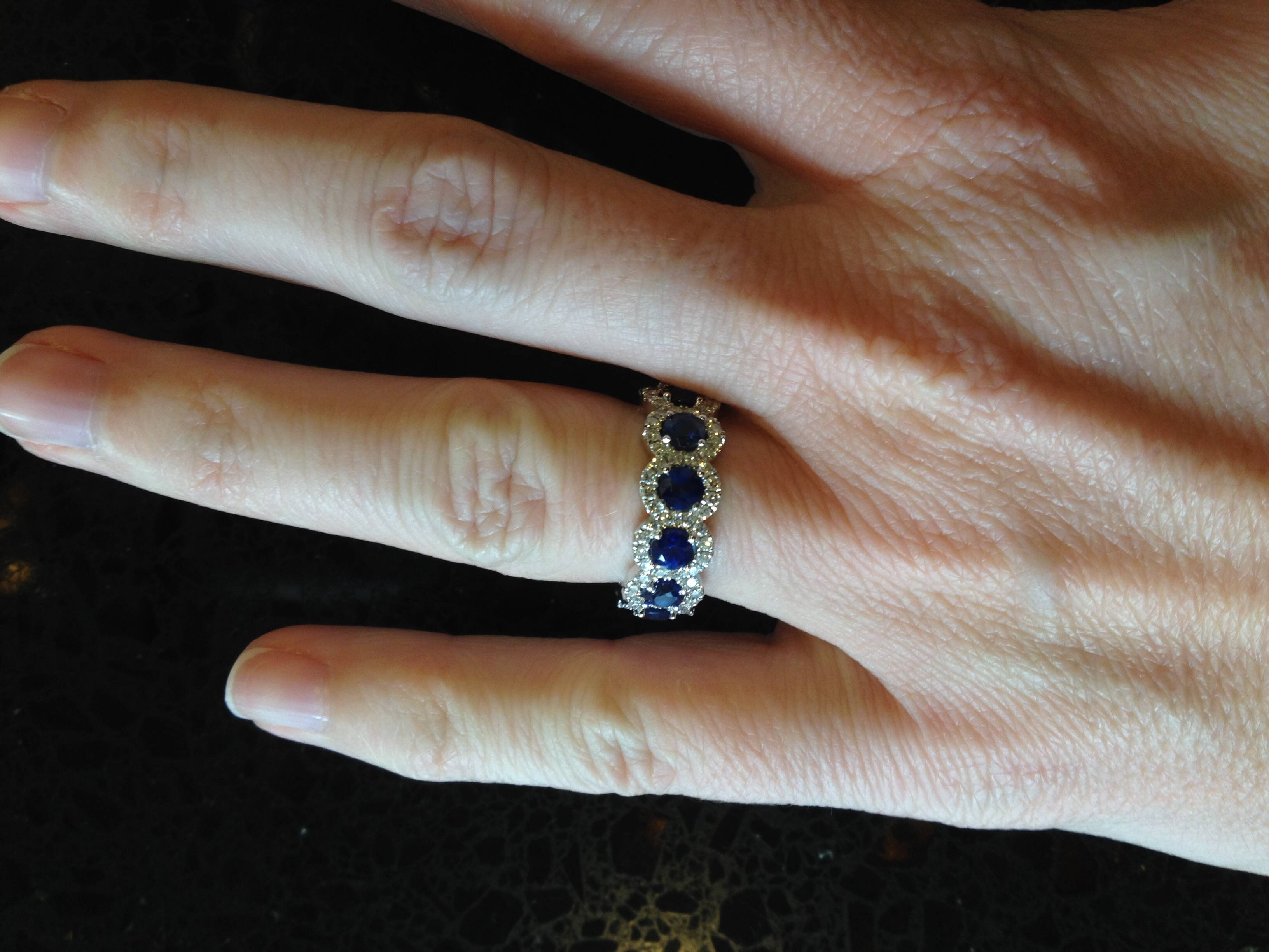 Please Help Me Choose A Stand Alone Wedding Band – Weddingbee Pertaining To Most Recently Released Blue Sapphire Anniversary Rings (View 15 of 25)