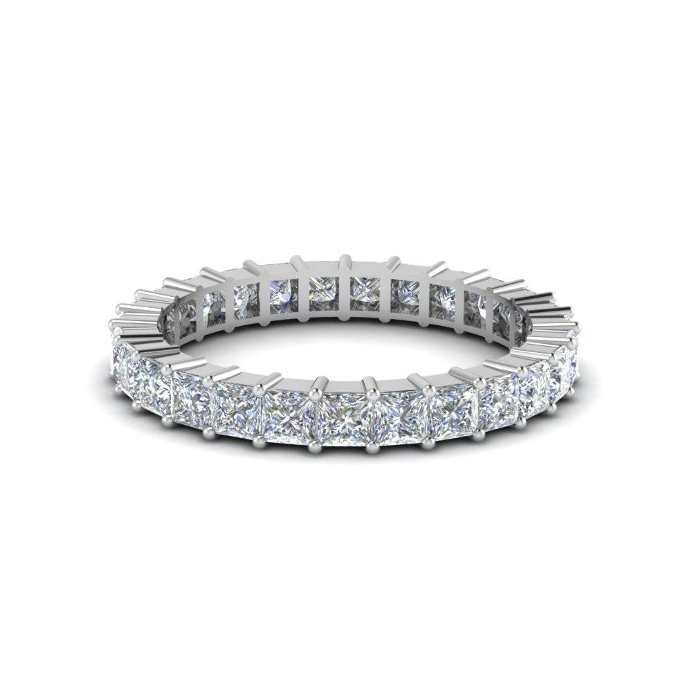 Princess Cut Shared Prong Diamond Eternity Band For Women In 14k Inside Most Recent 1 Carat Diamond Anniversary Rings (View 3 of 15)