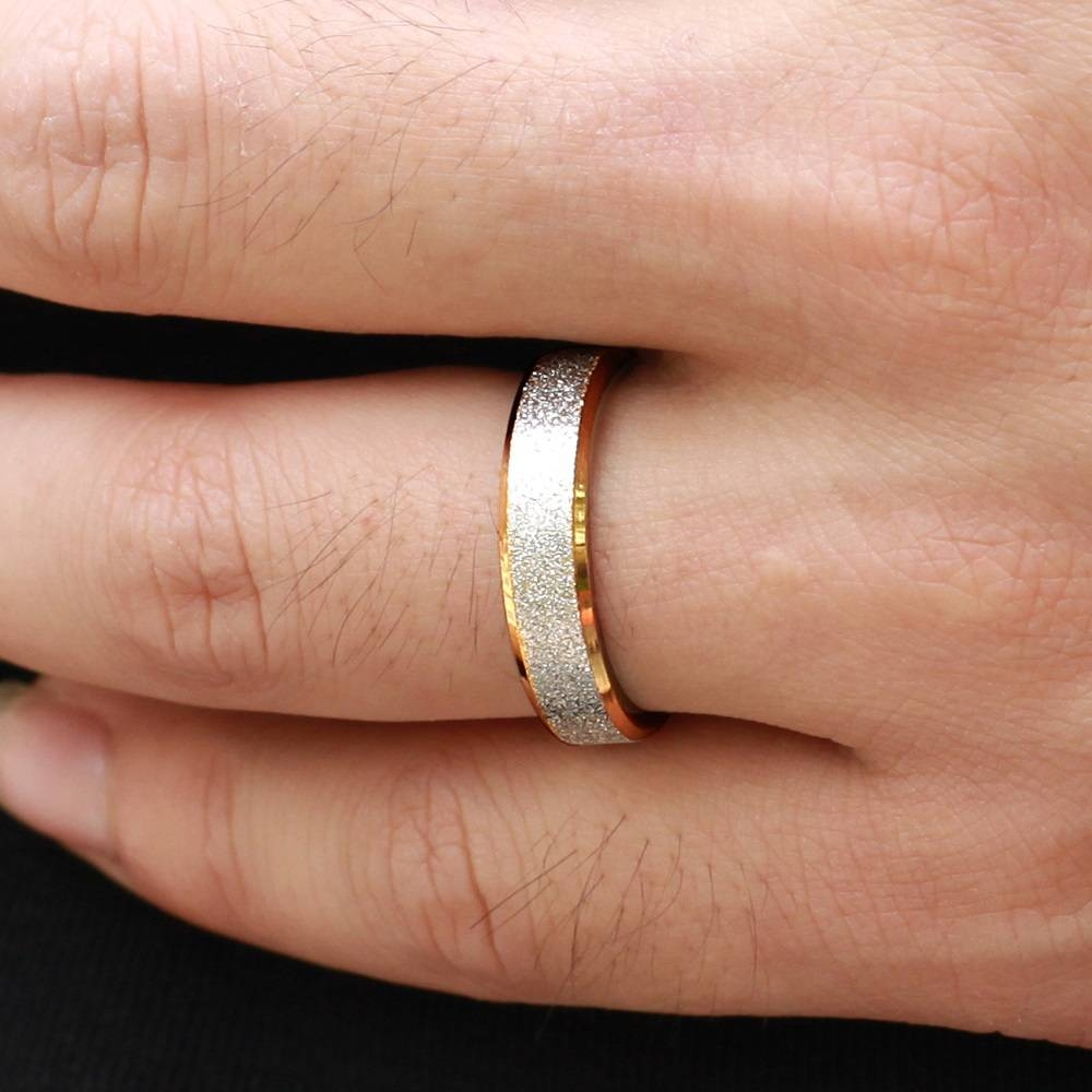 Promise Rings Men Women Matching Set For Anniversary Frosted Band For Most Up To Date Anniversary Rings For Men (Gallery 24 of 25)