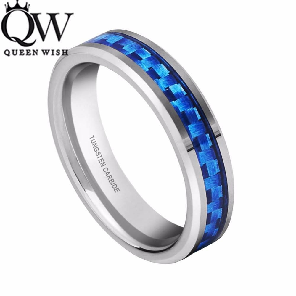 Queenwish Unique Engagement Rings 4Mm Tungsten Ring Silver Color In Best And Newest Titanium Anniversary Rings (View 8 of 25)
