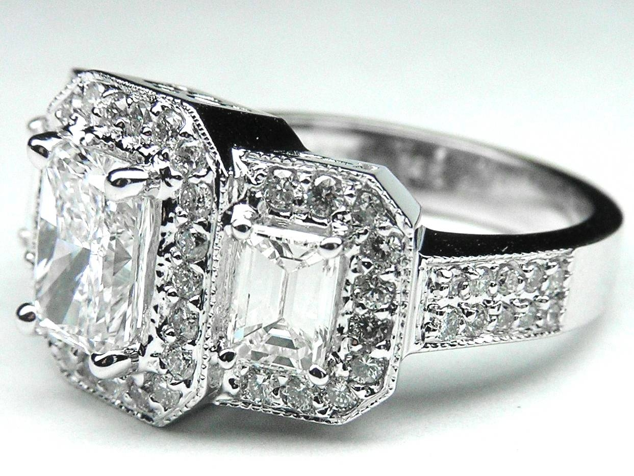 Radiant – Engagement Rings From Mdc Diamonds Nyc Pertaining To Current 3 Diamond Anniversary Rings (Gallery 25 of 25)