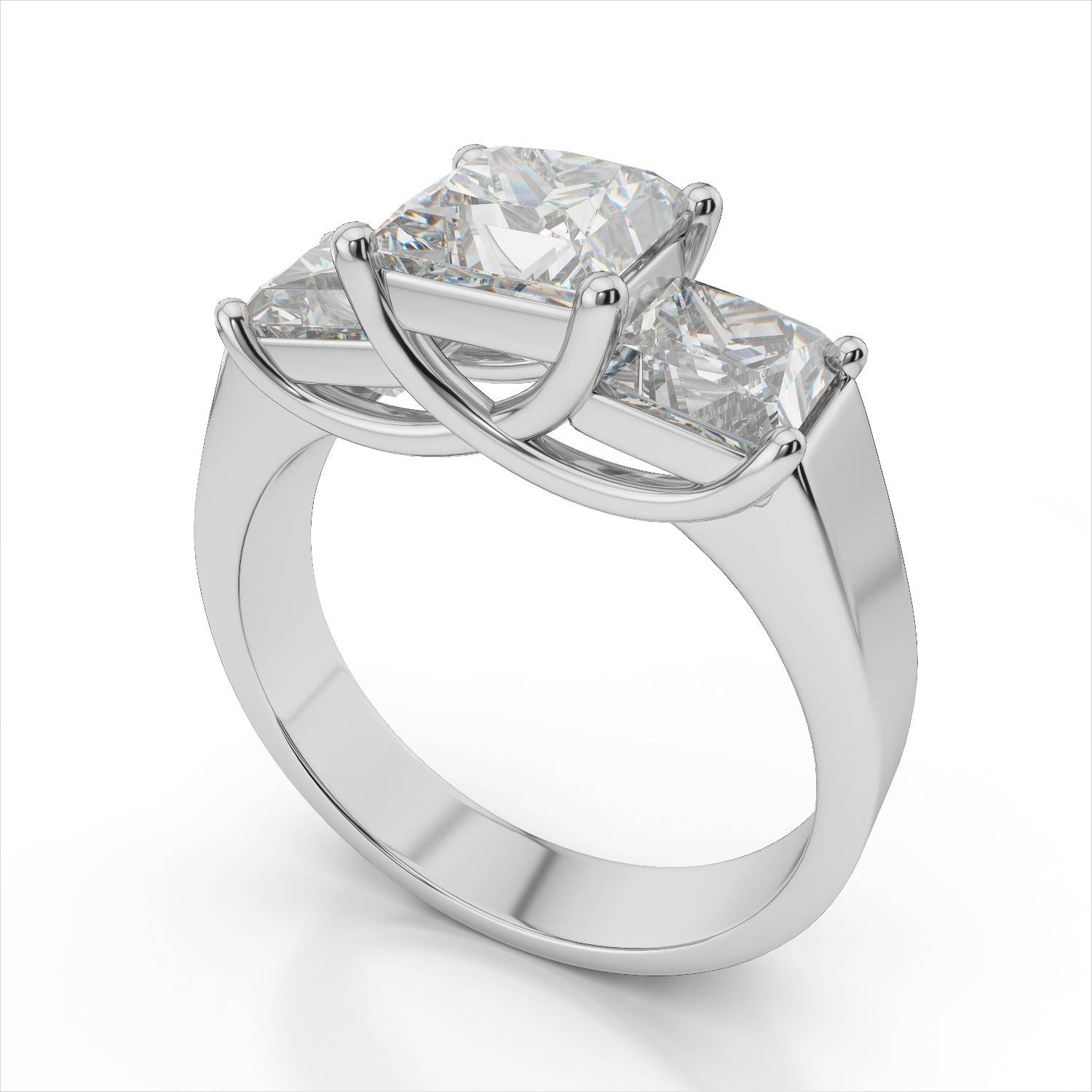 Rings : 3 Stone Ring 3 Stone Princess Cut Engagement Rings Diamond Throughout Latest 3 Stone Anniversary Rings Settings (View 11 of 25)