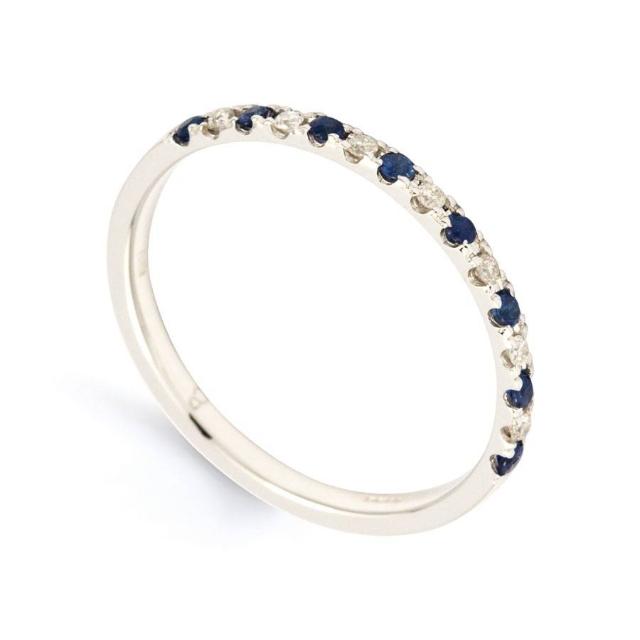 Rings : Anniversary Bands Sapphire Eternity Band White Sapphire In Latest White Sapphire Anniversary Rings (Gallery 20 of 25)
