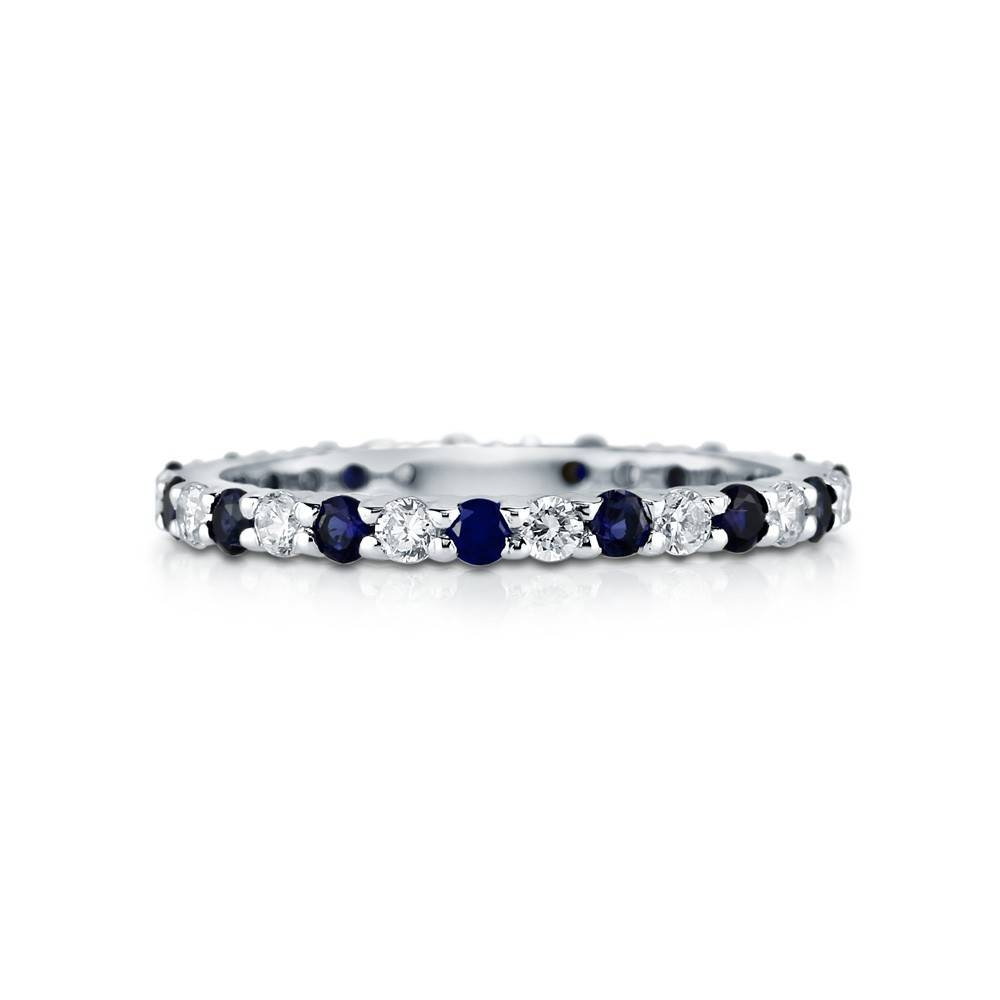 Rings : Anniversary Bands Sapphire Eternity Band White Sapphire With Regard To Latest White Sapphire Anniversary Rings (View 11 of 25)
