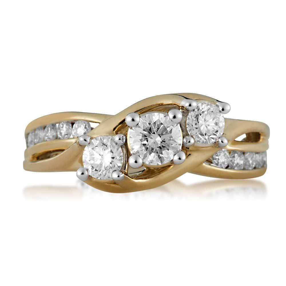 Rings : Halo Engagement Ring Settings Princess Diamond Engagement Inside Newest Three Diamond Anniversary Rings (Gallery 10 of 25)