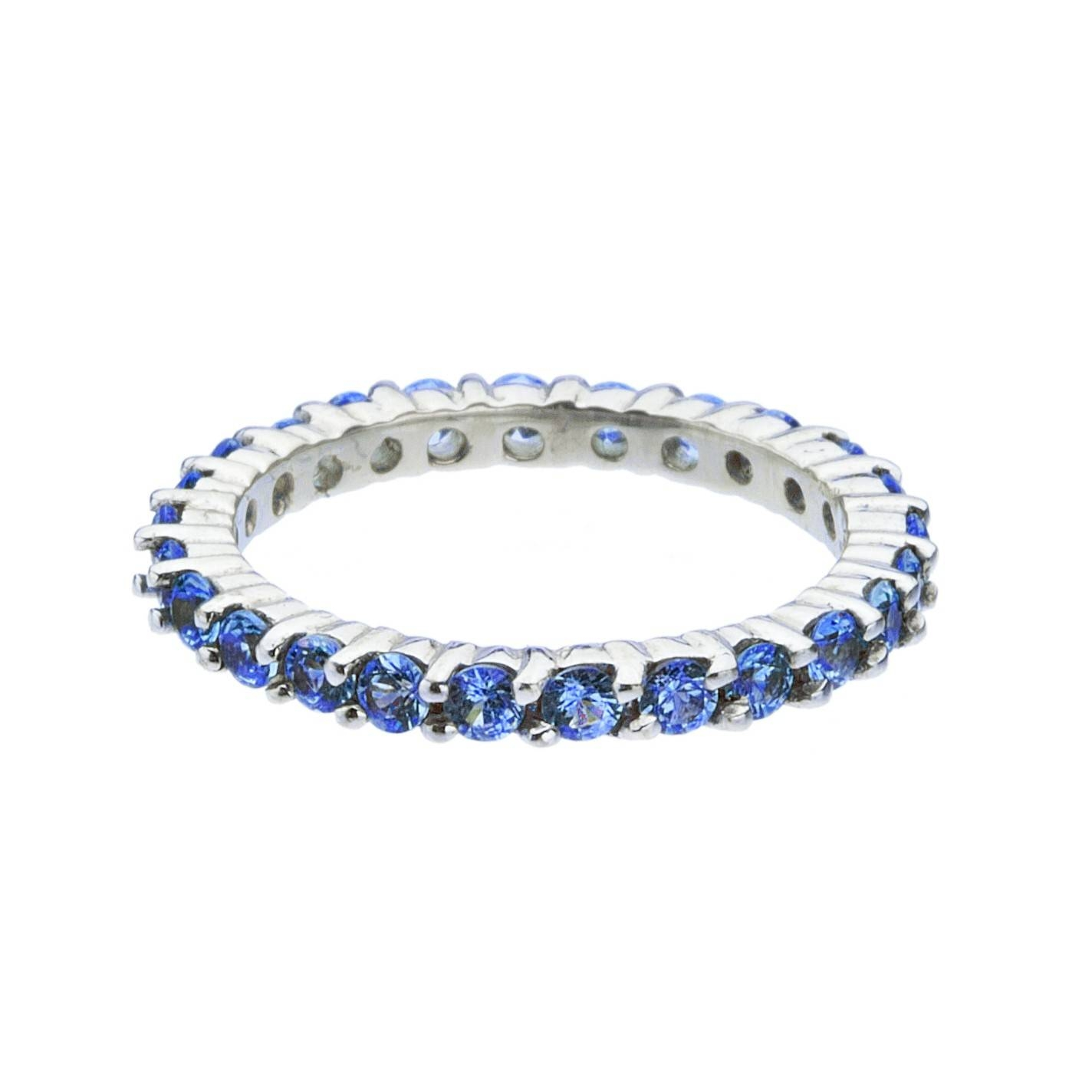 Rings : Platinum Diamond And Sapphire Eternity Ring Blue Sapphire Intended For Most Current Blue Sapphire Anniversary Rings (View 16 of 25)