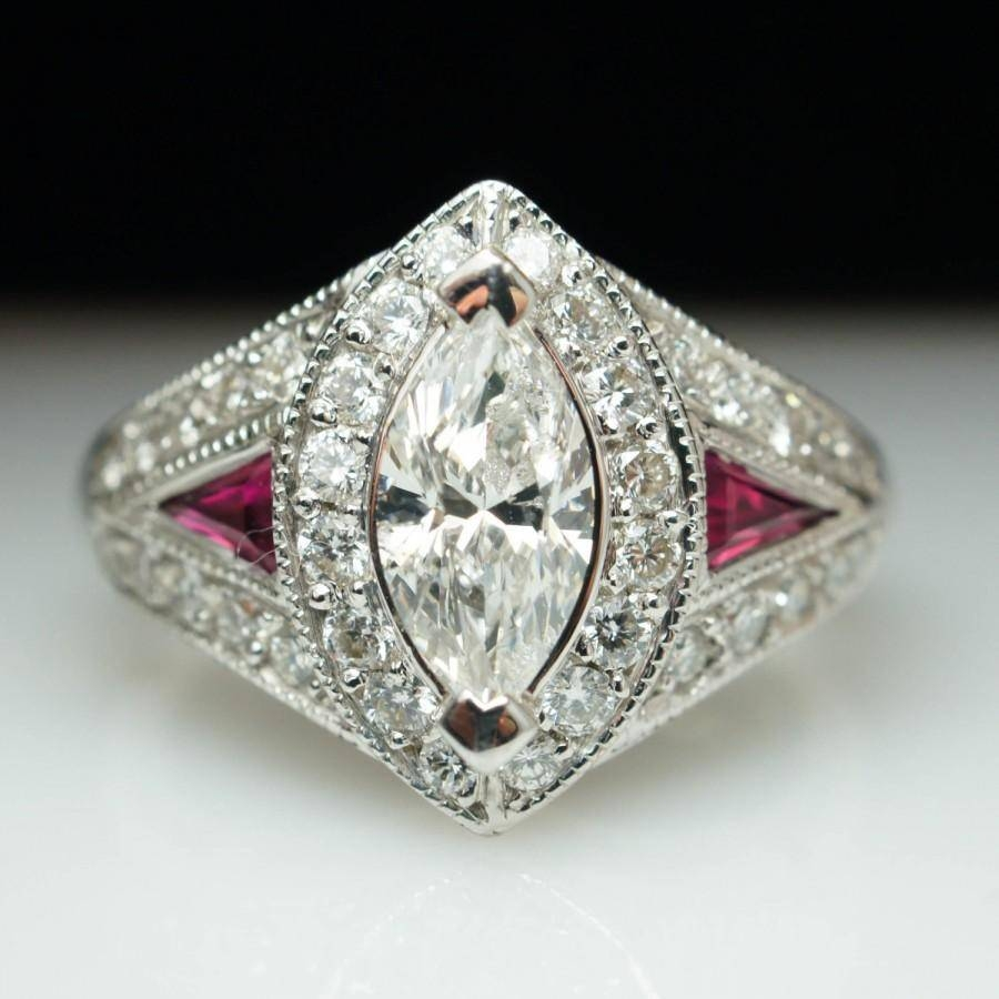 Rings : Ruby And Diamond Ring Ruby And Diamond Engagement Ring Regarding 2017 Marquise Cut Diamond Anniversary Rings (Gallery 13 of 25)