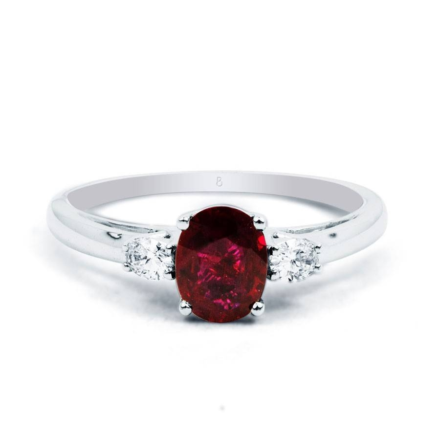 Rings : Ruby Ring With Diamonds Ruby Wedding Rings Red Ruby Ring For Current Ruby Anniversary Rings (Gallery 22 of 25)